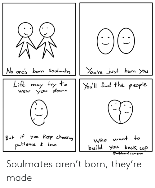 They, Born, and Made: Soulmates aren't born, they're made