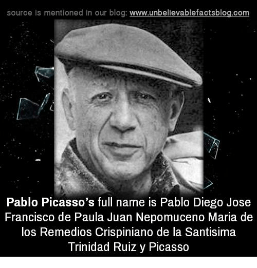 Picasso Full Name