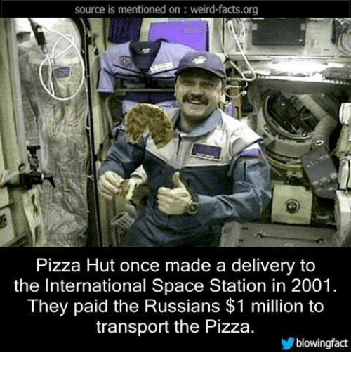 Source Is Mentioned On Weird Factsorg Pizza Hut Once Made A