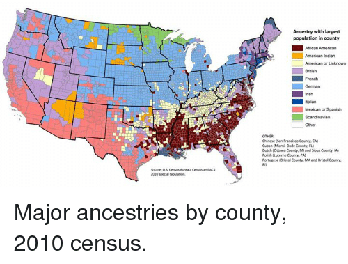 Us Census Ancestry Map - Us census ancestry map