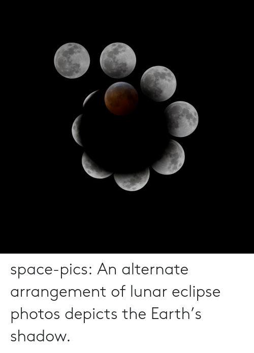 Tumblr, Blog, and Earth: space-pics:  An alternate arrangement of lunar eclipse photos depicts the Earth's shadow.