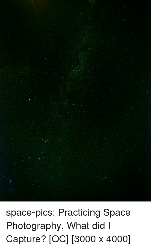 Tumblr, Blog, and Http: space-pics:  Practicing Space Photography, What did I Capture? [OC] [3000 x 4000]