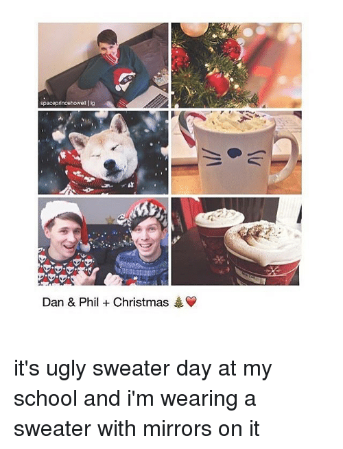 Dan And Phil Christmas Sweater.Space Princehowell Lig Dan Phil Christmas It S Ugly