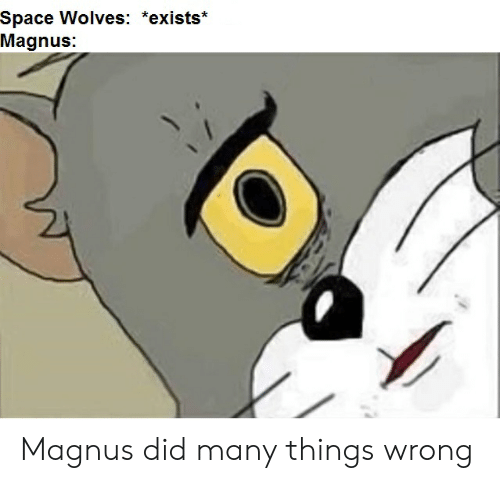 Space, Wolves, and Magnus: Space Wolves: *exists*  Magnus: Magnus did many things wrong