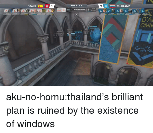 Tumblr, Windows, and Blog: SPAIN  1 x  MAP 4 OF 4  2  THAILAND  DA  OMI  33乙 aku-no-homu:thailand's brilliant plan is ruined by the existence of windows