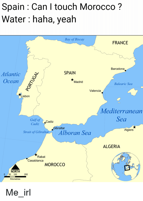 Map Of Spain Gibraltar And Morocco.Spain Can I Touch Morocco Water Hana Yeah Bay Of Biscay France