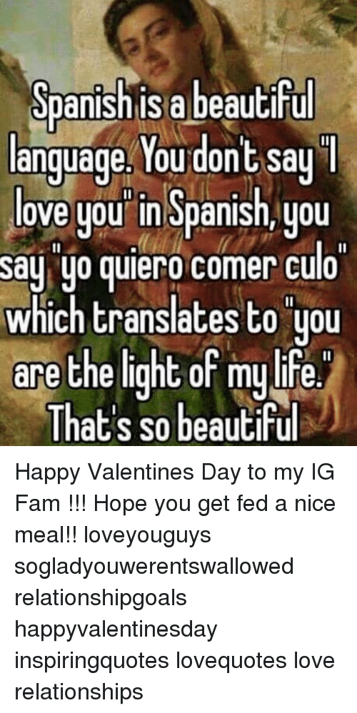 Spanish Isa Beautiful Language You Dont Say Love You In Spanish You