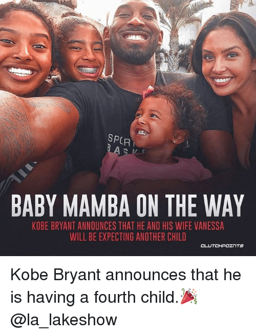 9d43ba5a113f SPCR BABY MAMBA ON THE WAY KOBE BRYANT ANNOUNCES THAT HE AND HIS ...