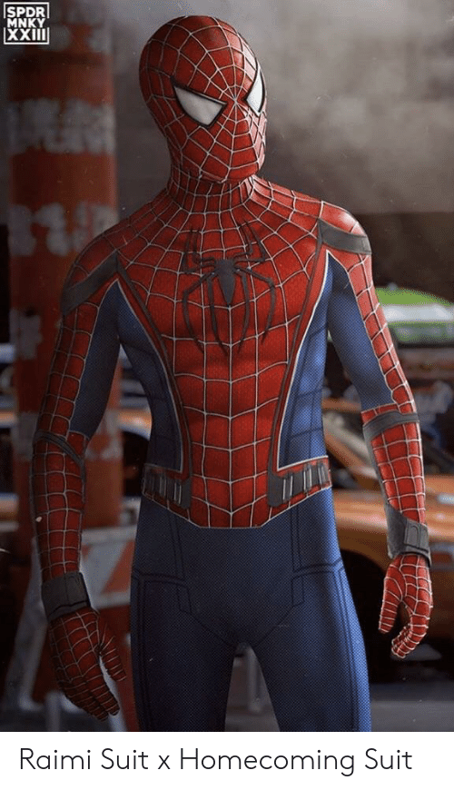 SPDR MNKY Raimi Suit X Homecoming Suit | Homecoming Meme on