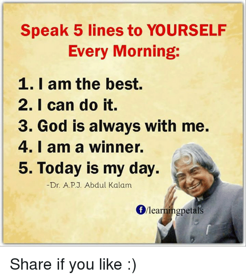 I Am Doing The Best I Can Quotes: Speak 5 Lines To YOURSELF Every Morning 1 I Am The Best 2