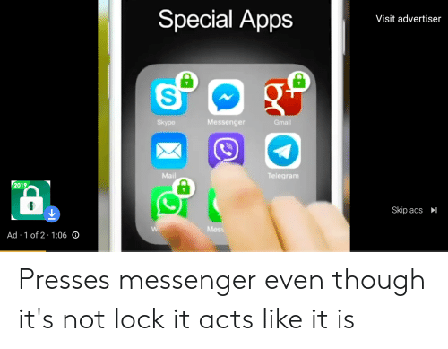 Special Apps Visit Advertiser S Messenger Skype Gmail Mail