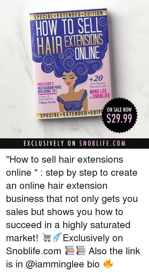 Special Extended Edition How To Sell Onine 20 Includes Hair