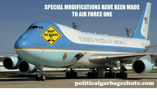 SPECIAL MODIFICATIONS HAVE BEEN MADE TO AIR FORCE ONE BABY ON ...