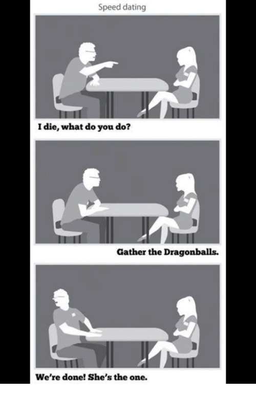 Dating, Speed, and One: Speed dating I die, what do you do