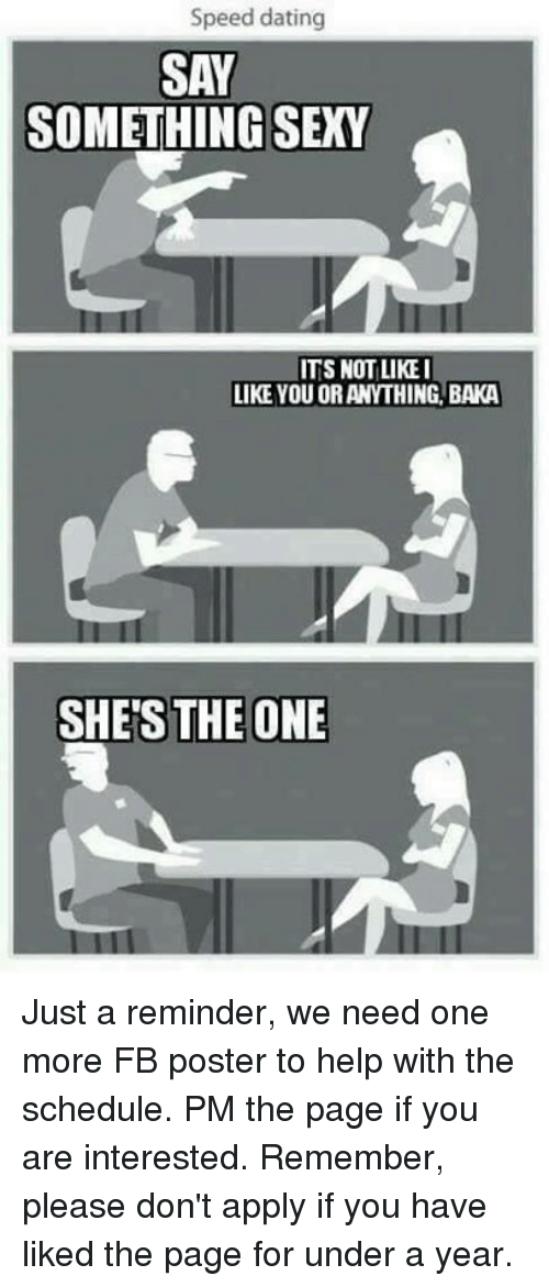 What not to say when speed dating