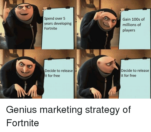 Spend Over 5 Years Developing Fortnite Gain 100s Of Millions Of