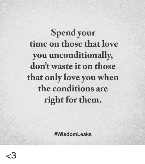 How do you know if someone loves you unconditionally