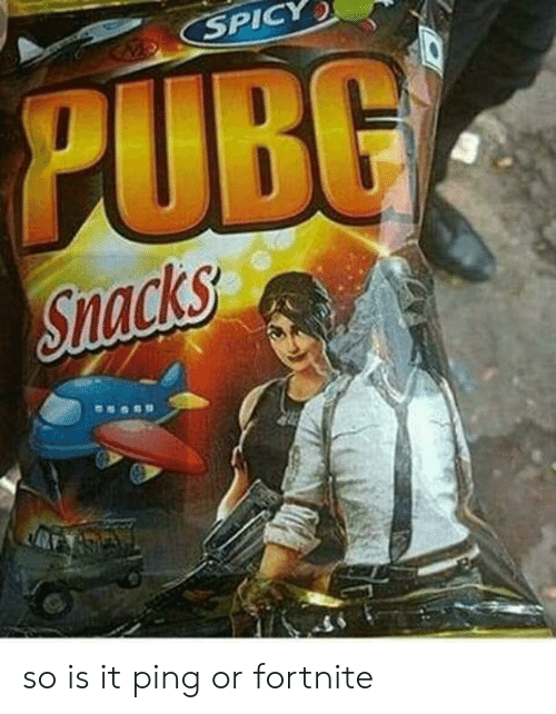 SPICY PUBG Snacks So Is It Ping or Fortnite | Spicy Meme on