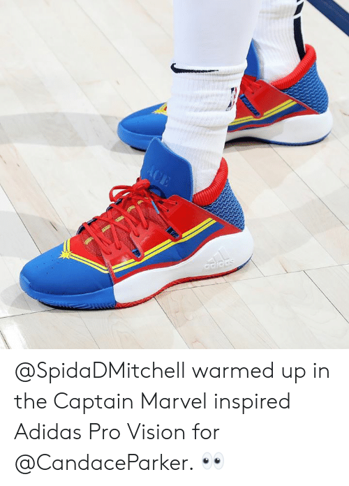 Warmed Up in the Captain Marvel Inspired Adidas Pro Vision