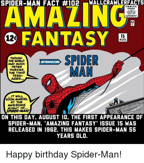 Spider Man Fact 102 Allcrawlerfacts Amaling Comics Code Fantasy B