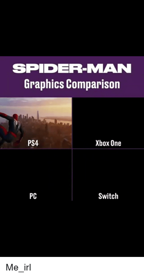 SPIDER-MAN Graphics Comparison PS4 Xbox One PC Switch | Ps4