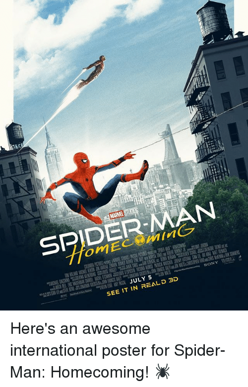 Memes Spider And SpiderMan SPIDER N JULY 5 SEE IT IN REALD 3D