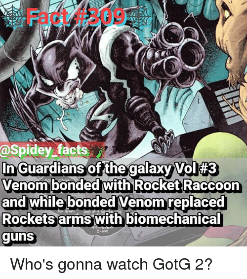 Facts in Guardians of the Galaxy Vol 3 Venom Bonded With