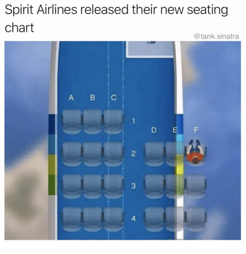 Spirit Airlines Released Their New Seating Chart Abc D E F 2