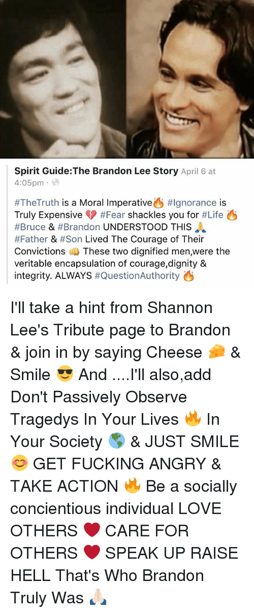 Spirit Guidethe Brandon Lee Story April 6 At 405pm Thetruth Is A