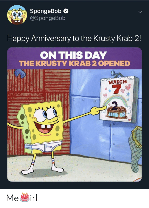 SpongeBob Happy Anniversary to the Krusty Krab 2 ON THIS DAY
