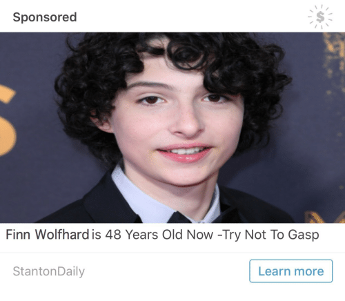 Finn, Old, and Now: Sponsored  Finn Wolfhard is 48 Years Old Now -Try Not To Gasp  StantonDaily  Learn more