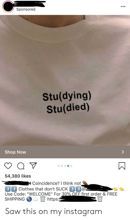 Sponsored Studying Studied Shop Now 54380 Likes tCoincidence? I
