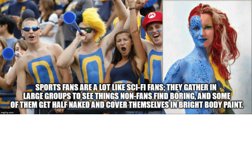 Sports fans getting naked