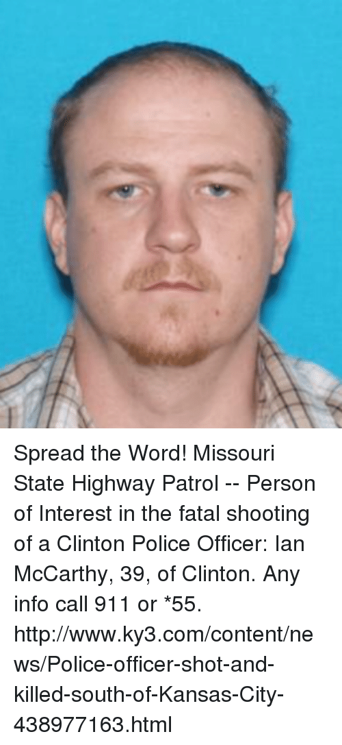 Spread the Word! Missouri State Highway Patrol -- Person of