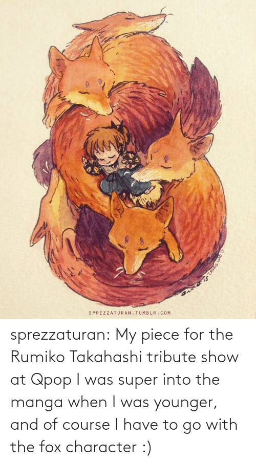 Facebook, Target, and Tumblr: sprezzaturan: My piece for the Rumiko Takahashi tribute show at Qpop I was super into the manga when I was younger, and of course I have to go with the fox character :)