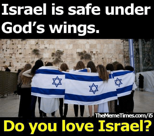 Love, Memes, and Israel: srael is safe under  God's wings.  TheMemeTimes.com/i5  Do you love Israel?