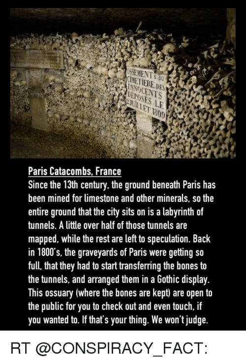 Ssement5du Paris Catacombs France Since The 13th Century The Ground