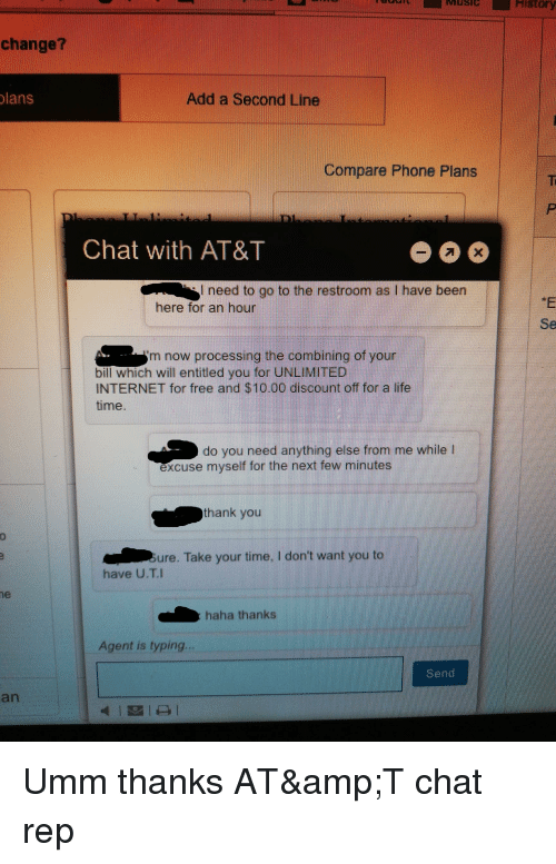St Change? Lans Add a Second Line Compare Phone Plans Chat With AT&T