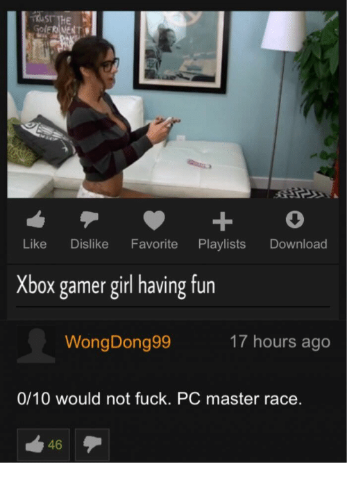 Girl play xbox fuck