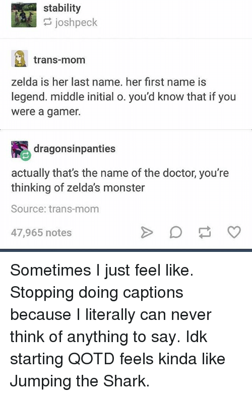 Doctor Memes And Monster Stability Josh Peck Trans Mom Zelda Is Her