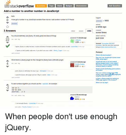 Stackoverflow Questions Tags Users BadgesUnanswered Ask Question Add