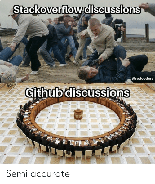 Stackoverflowdiscussions Github Discussions Semi Accurate | Github