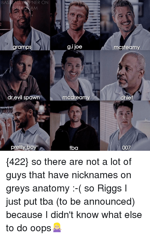 STACRAM Gramp Gi Joe McSteamy Drevil Spawn McDreamy Chief Pretty Boy ...