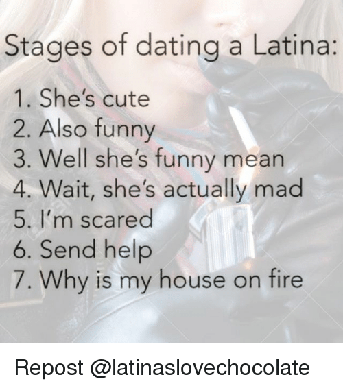 Stages of dating a latina girl