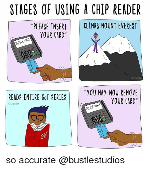 stages of using a chip reader please insert climbs mount 23942497 ✅ 25 best memes about chip reader chip reader memes