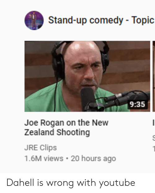 Stand-Up Comedy - Topic 935 Joe Rogan on the New Zealand