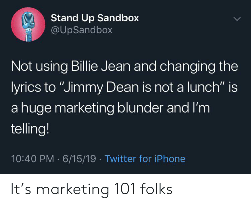 Stand Up Sandbox Not Using Billie Jean And Changing The