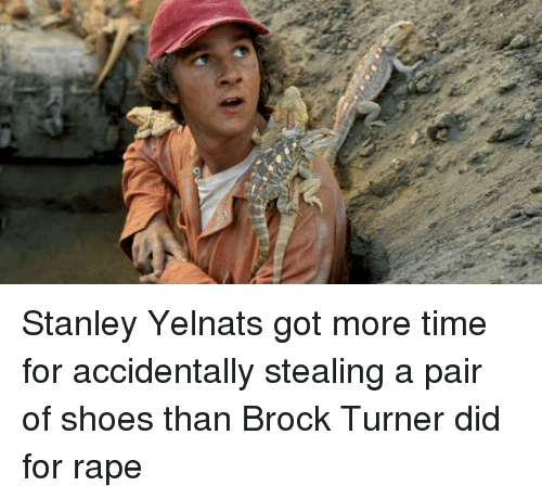 stanley yelnats got more time for accidentally stealing a pair of