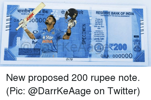 Star 0172 RESERVE BANK OF INDIA BY ooVERMENT THE Two THOUSAND 000000