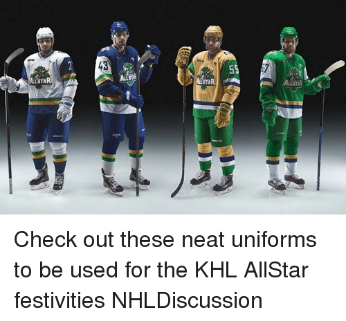 STAR 43 STA SS ALL STA Check Out These Neat Uniforms to Be Used for the KHL  AllStar Festivities NHLDiscussion  86fd4232d48